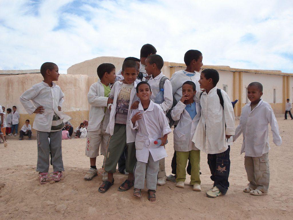 Niños saharauis. Foto por la Junta de Aragón.