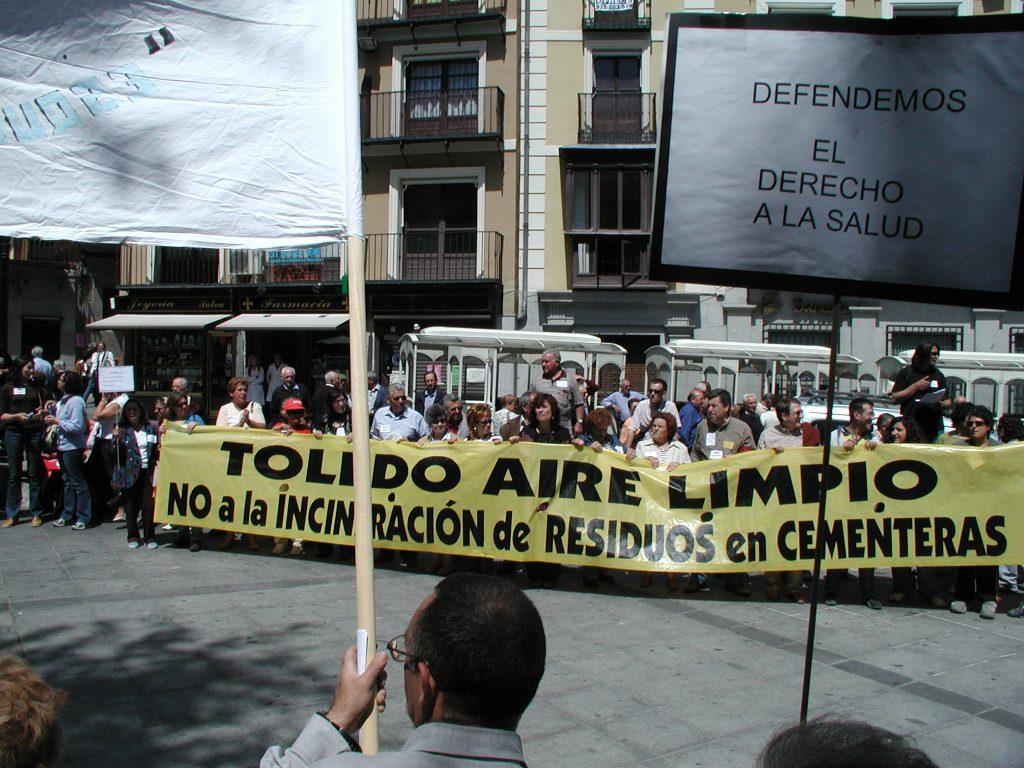 Manifestación de Toledo Aire Limpio