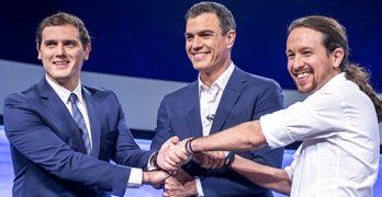 Rivera, Sánchez e Iglesias sólo visitarán Toledo durante la campaña