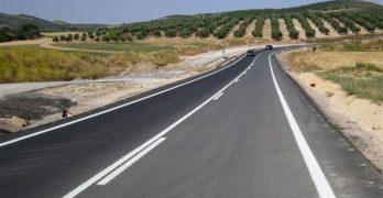 Obras de rehabilitación en tramos de carreteras de la provincia