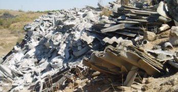 """Ganemos Toledo critica el """"eufemismo"""" de llamar """"uralita"""" a los restos de amianto"""