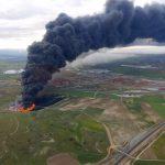 La combustión de neumáticos en Seseña puede prolongarse más de una semana