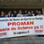 Las huelgas en el Museo del Ejército han costado más de 8.000 euros diarios a Defensa