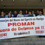 Seguimiento total de la huelga de conserjes del Museo del Ejército
