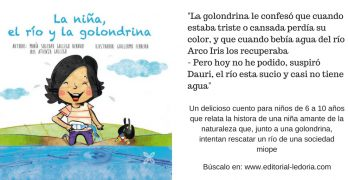 Una niña y una golondrina explican a los más pequeños cómo deben ser los ríos
