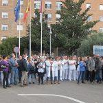 Protesta del personal del Complejo Hospitalario de Toledo para pedir más contrataciones