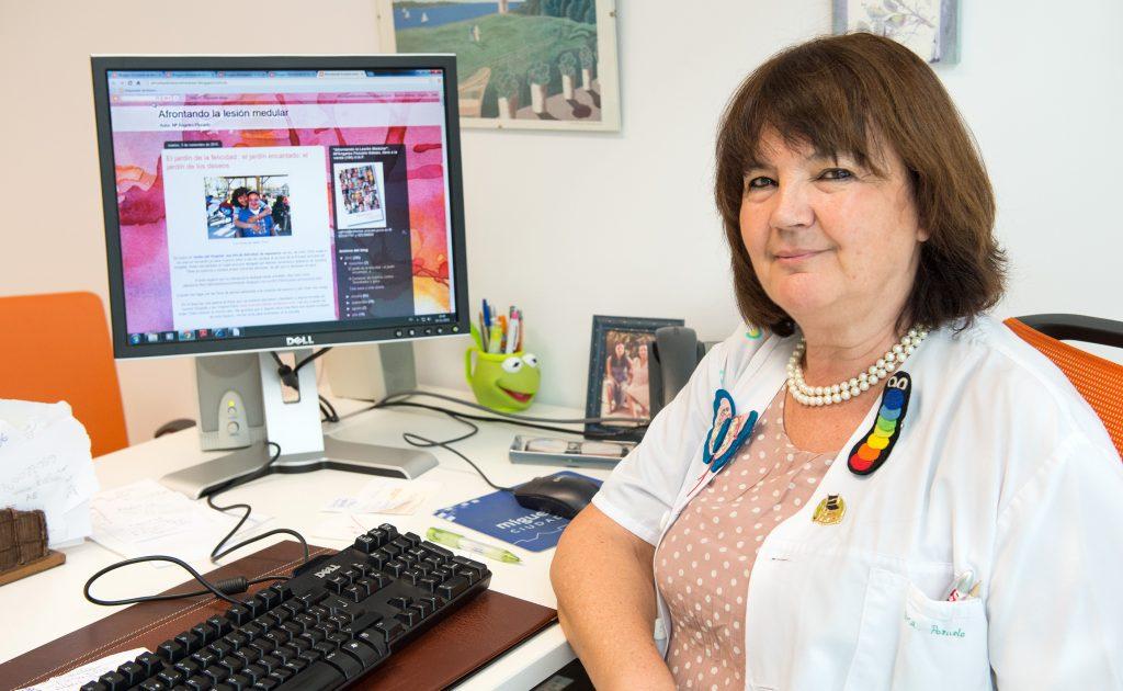"""Mª Ángeles Pozuelo, Psicóloga del Hospital Nacional de Parapléjicos y creadora del Blog """"Afrontando la lesión medular"""".  (Foto: Carlos Monroy)"""