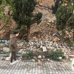 Se desprende parte de la muralla de Talavera por el fuerte temporal