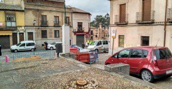 Talados cinco árboles de la plaza del Barrio Nuevo en Toledo