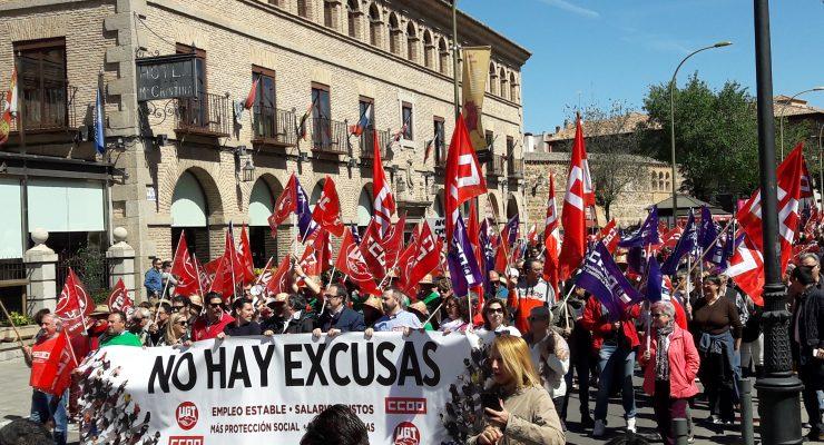 """Primero de Mayo en Toledo: """"no hay excusas"""" para no rescatar a """"millones de trabajadores pobres"""""""
