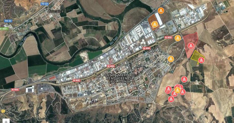 Mapa del amianto en Toledo