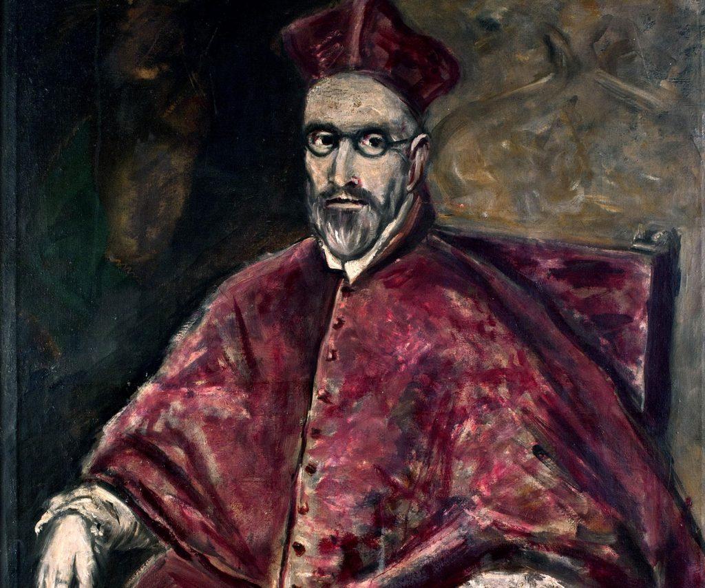 Retrato del Cardenal Niño Guevara. Copia de una obra de El Greco