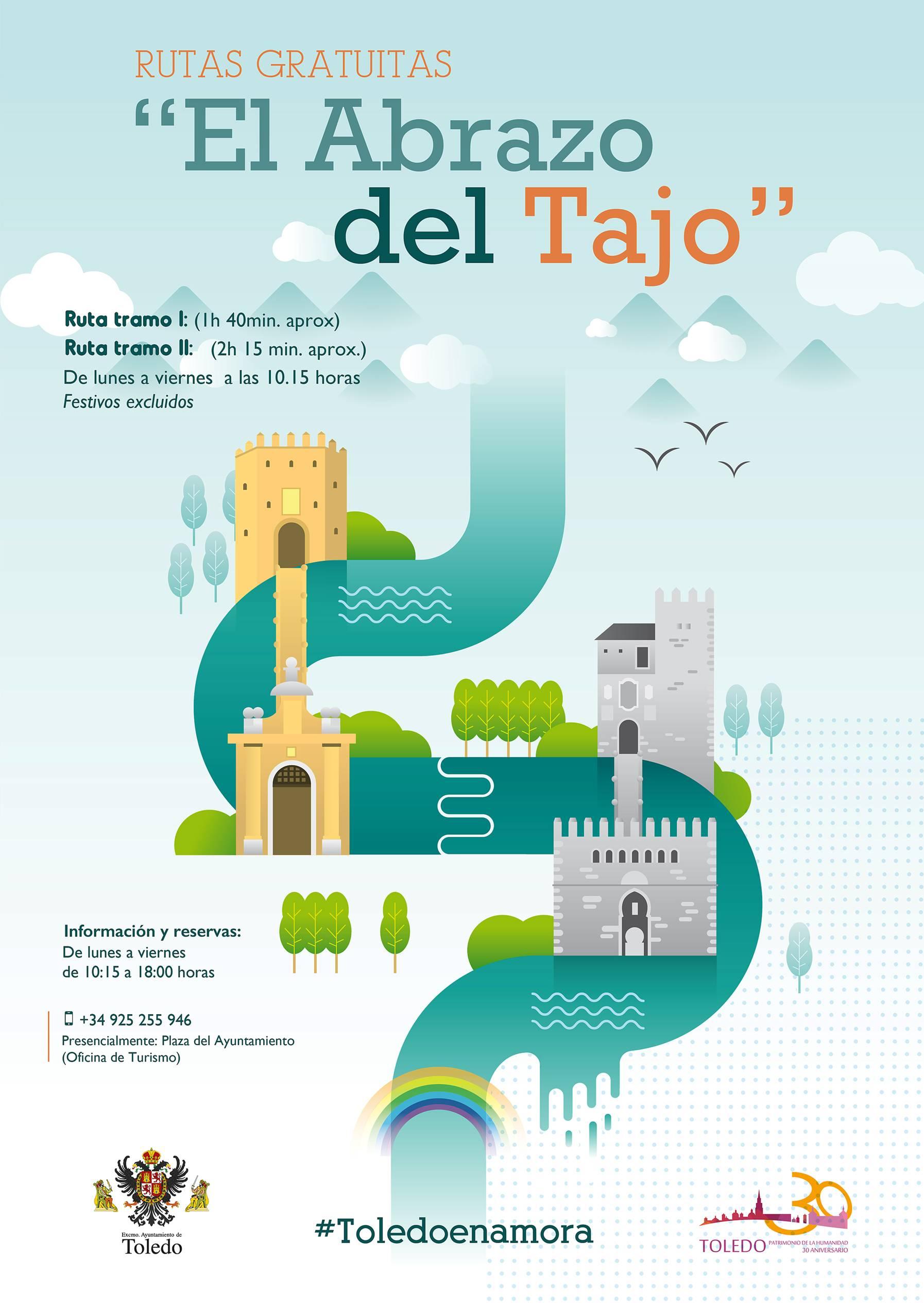Cartel informativo de las rutas 'El Abrazo del Tajo'