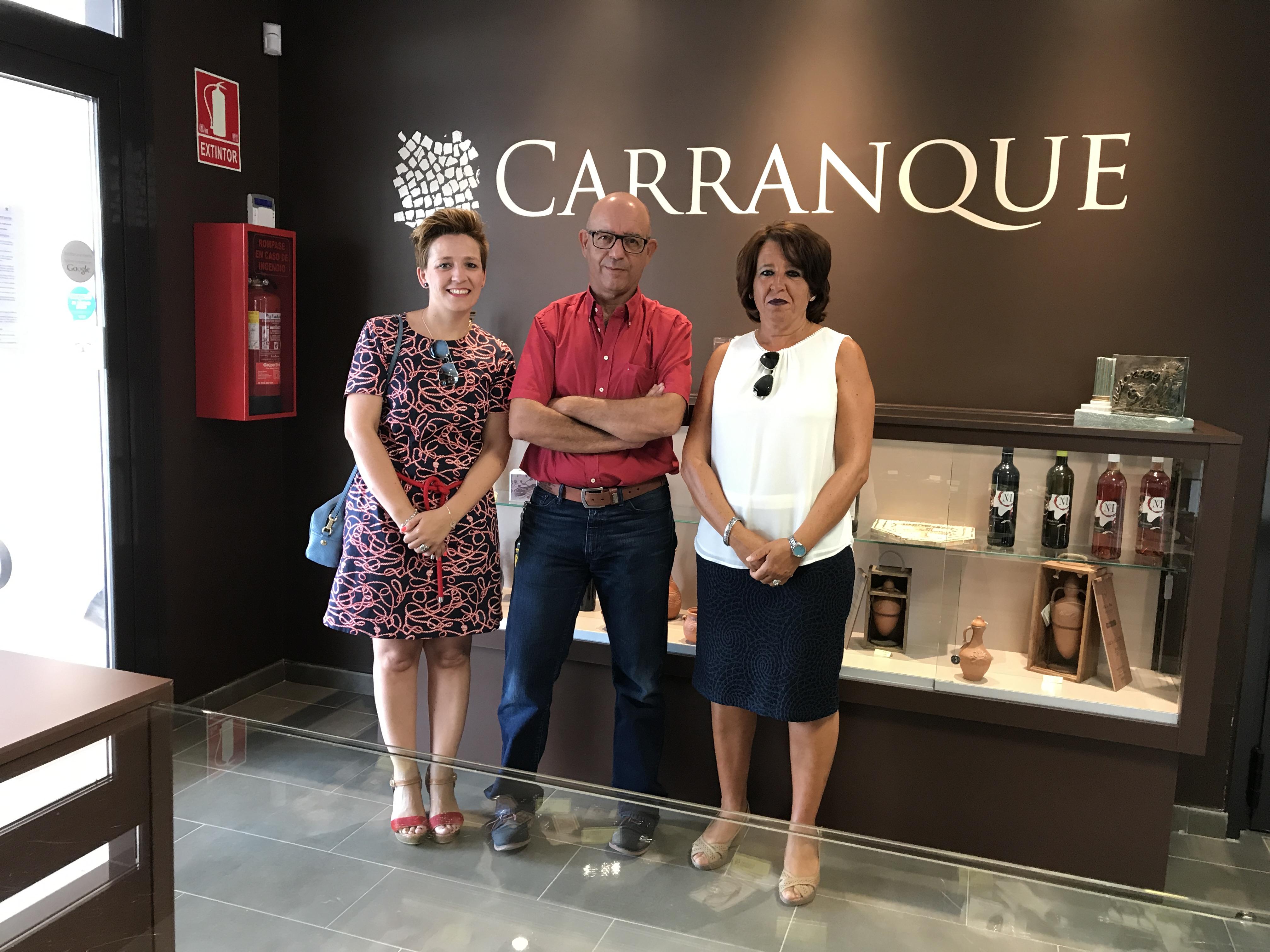 Dtro prov Educación con concejalas de Ayto Carranque