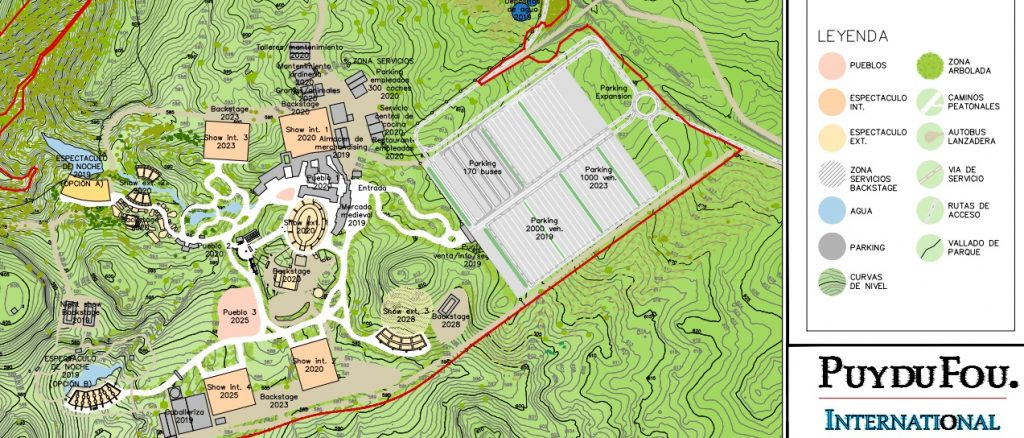 Plano provisional del futuro parque temático sobre la historia de España que se abrirá en Toledo