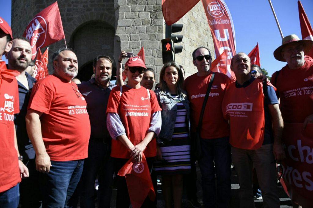 Algunos dirigentes que han mostrado su apoyo a la marcha. FOTO: Julio López Espeso