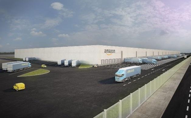 Infografía del futuro centro logístico de Amazon en Illescas (Toledo)