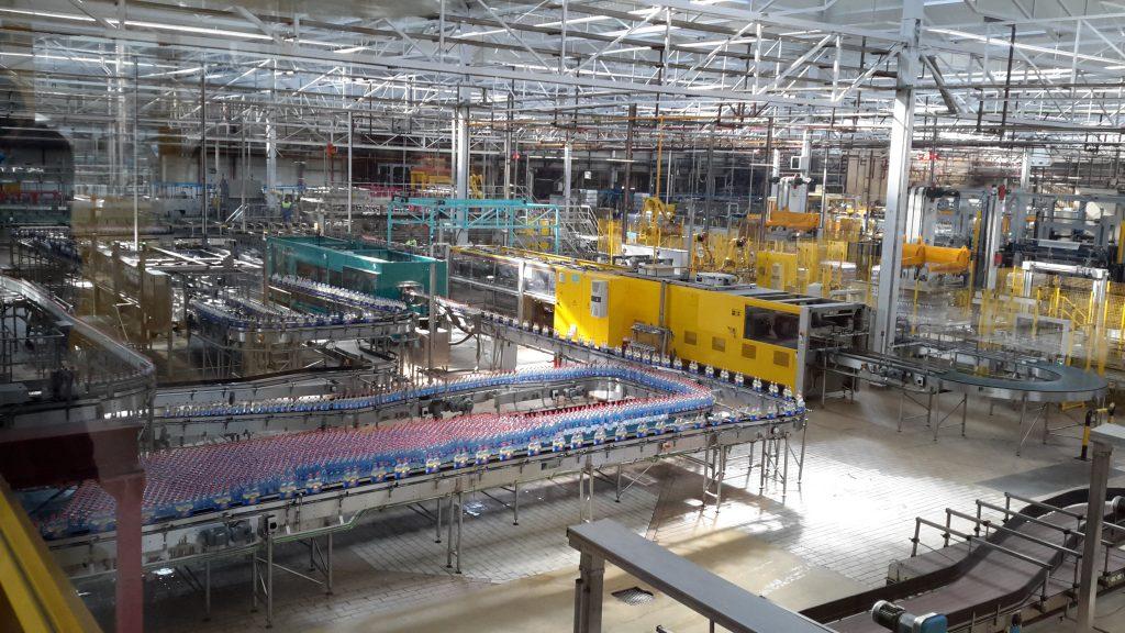 Imagen de una de las líneas de envasado de la fábrica