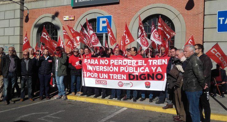 Trabajadores de Adif piden que el Ayuntamiento de Talavera se sume al 'Pacto por el Ferrocarril'
