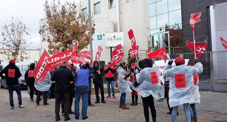 Los trabajadores de Hermi en Torrijos denuncian que la empresa no quiere recibirlos