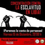 Una concentración en Toledo pedirá el fin del comercio de esclavos en Libia