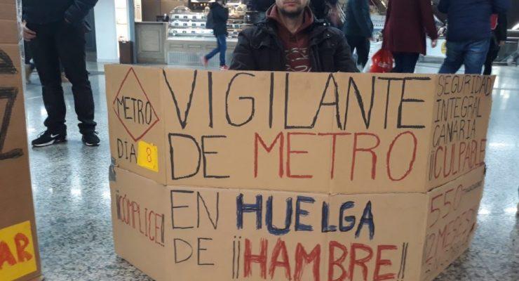 El vigilante toledano del Metro abandona su huelga de hambre por problemas de salud