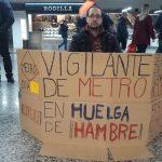 La lucha de un vigilante de seguridad toledano, en huelga de hambre, tras dos meses sin cobrar