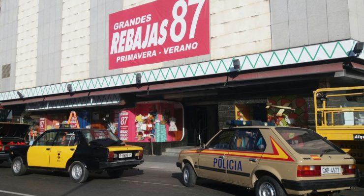 El edificio 'Mary' de Talavera, transformado en un Hipercor de 1987 para 'Cuéntame'