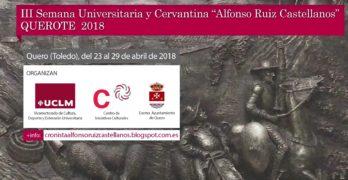 El Ayuntamiento de Quero prepara junto a la UCLM un Congreso Cervantino Nacional