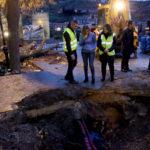 Reparadas las tuberías de agua averiadas en La Olivilla y la calle Juan Labrador de Toledo
