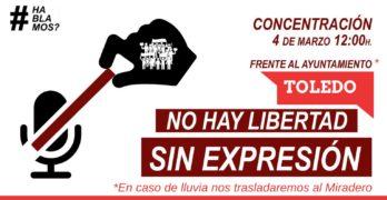 Ciudadanos, artistas y poetas convocan en Toledo una jornada por la libertad de expresión