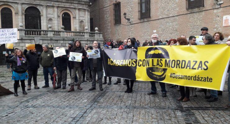Toledo alza su voz por la libertad de expresión y contra la Ley Mordaza