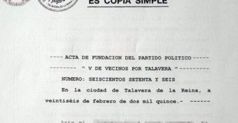 XTalavera tiene registrado un partido desde 2015, antes de las primarias de Ganemos