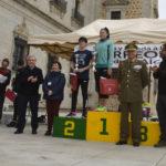 Marta Molina y Carlos Hernández, ganadores de la V 'Subida y bajada a los Torreones del Alcázar'