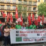 """La Marea Verde vuelve a las calles de la región para """"tirar abajo la LOMCE"""""""