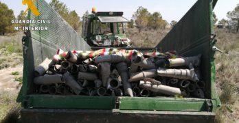 Tractor y remolque para robar 500 kilos de tubo de riego en Quero y Villa de Don Fadrique