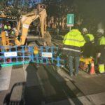 El reventón de una tubería provoca cortes de agua en Santa Teresa, Antequeruela y la subida a la Granja
