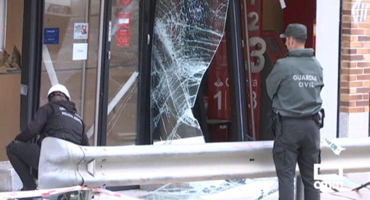 Explotan un cajero de madrugada en Cedillo del que consiguen robar 30.000 euros