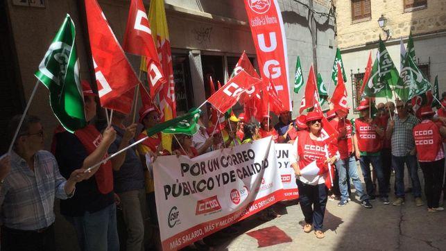 Los trabajadores de Correos no descartan la huelga general en Castilla-La Mancha