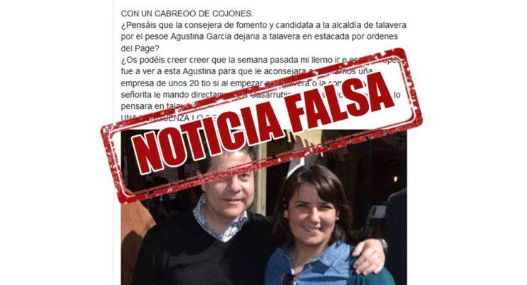La consejera de Fomento denuncia una 'fake new' en su contra sobre la instalación de una empresa en Talavera