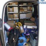 Detenido tras robar radiales, taladros y martillos de furgonetas industriales