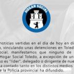 """Hogar Social Toledo niega que las detenciones estén vinculadas con la organización y lamenta el """"acoso"""""""