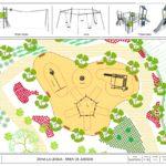 Un parque infantil inclusivo y más de 1.700 arbustos para La Legua
