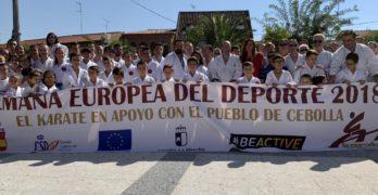 El mundo del kárate muestra su solidaridad con el pueblo de Cebolla tras la reciente riada