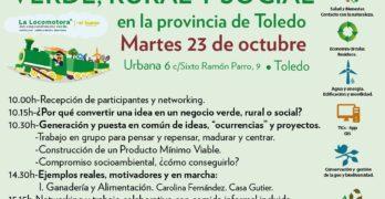 La Locomotora Verde promueve en Toledo el emprendimiento comprometido con el cambio climático o la repoblación