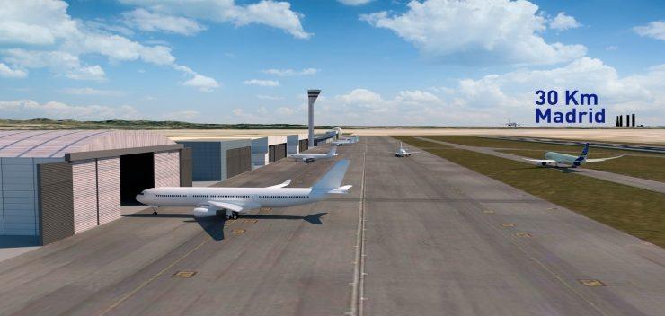El aeropuerto Madrid Sur empezaría a construirse en 2020 en el aeródromo de Casarrubios del Monte