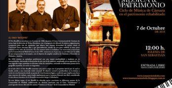 El Trio Bouffil inaugura el VII Ciclo de Música y Patrimonio en la iglesia de San Sebastián