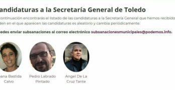 Tres candidatos aspiran a la Secretaría General de Podemos Toledo