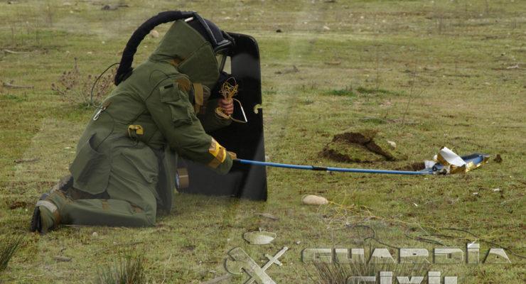Desactivan un proyectil de la Guerra Civil hallado en Nambroca