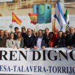 Centenares de personas apoyan en Madrid una nueva manifestación en defensa de un tren digno
